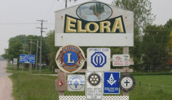 Welcome To The Village Of Elora, Ontario, Canada