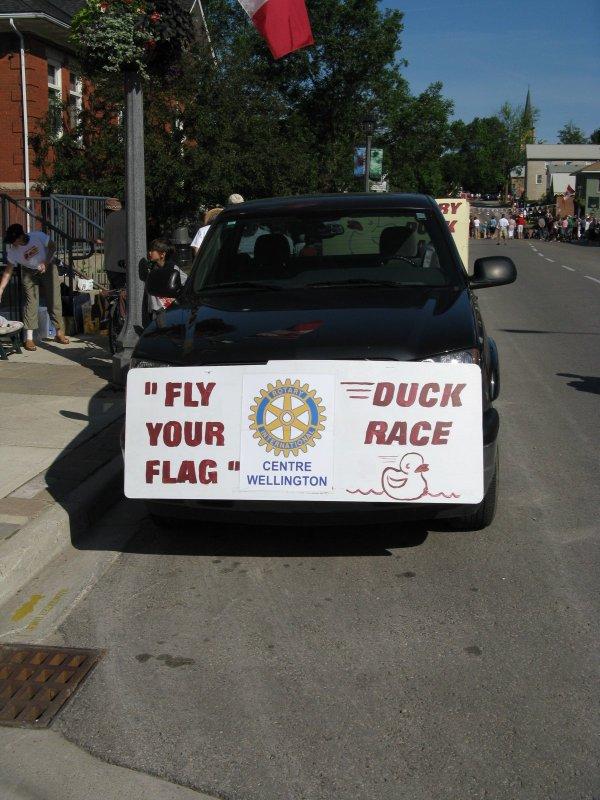 Duck Race in Elora, ON