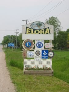 Elora Ontario - Entry Sign