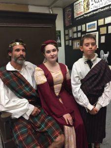 Actors during Macbeth rehearsal