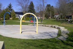 Splash pad and playground Obrien park Elora Ontario