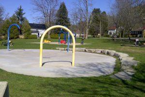 Splash pad and playground Obrien park Elora Ontario
