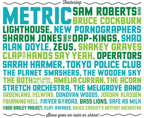 Riverfest Elora 2015 Lineup
